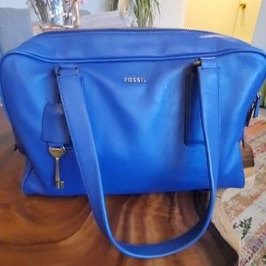 Blue Fossil Satchel